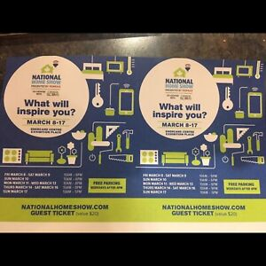 Tickets to National Home Show