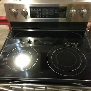 Stainless Steel Samsung Dual oven stove