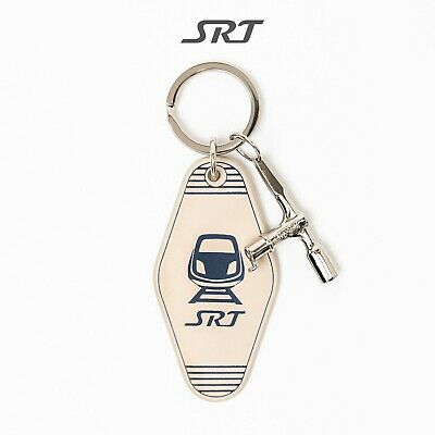 Approved SRT Railroad Collectibles Replica Key Train Engraved Leather Key Ring
