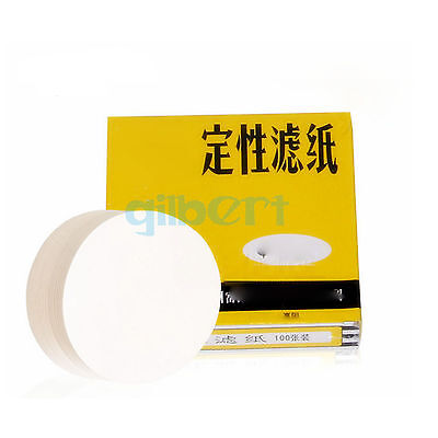 Pack100 Circles 7-18cm Diameter 10-25 Micron Ashless Qualitative Filter Paper
