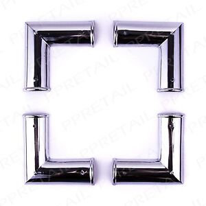 4 x Polished Chrome Corner Brackets -PICTURE FRAMING- Mirrors/Cases Decor/Repair