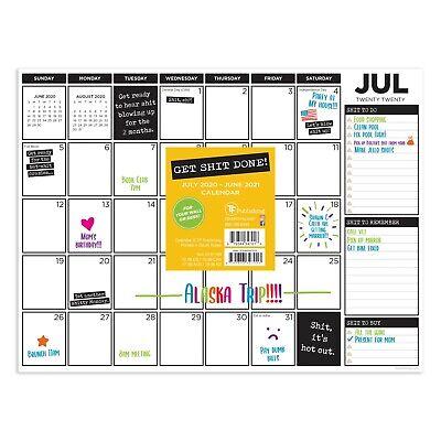 July 2020 - June 2021 Get It Done Mini Desk Pad Monthly Calendar Blotter