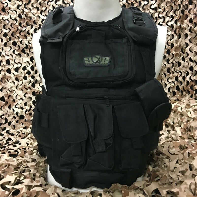 NEW Gen X Global GxG Tactical Paintball Woodsball Vest Pod Harness - Black