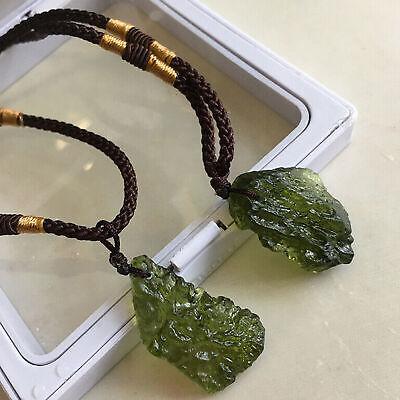 Piedra colgante collar cristal meteorito de moldavita gema verde cristal natural