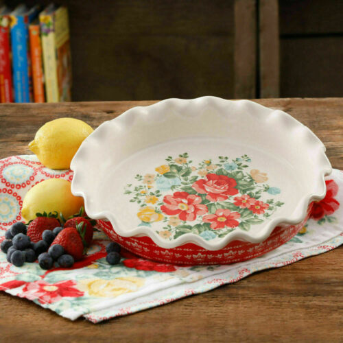 The Pioneer Woman Vintage Floral 9-Inch Pie Plate
