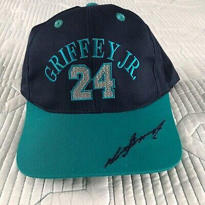 Vintage Boys Seattle Mariners Ken Griffey Jr Signature #24 Snapback Hat Rare -