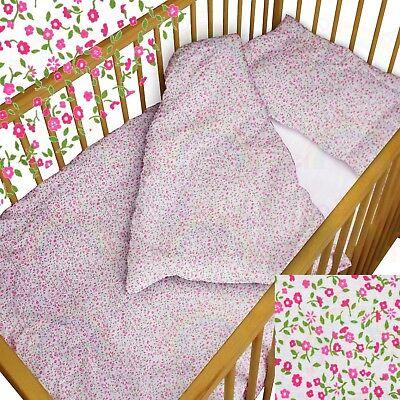 Garden Moses Basket - baby BEDDING set crib cot Tiny Flowers DUVET bumper MOSES BASKET sheet GIRL BOY