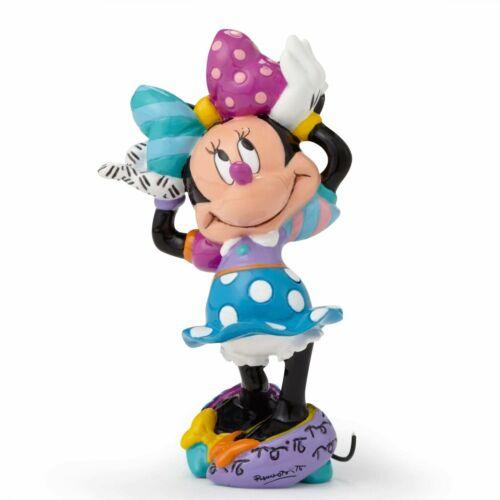 Disney Romero Britto Mini MINNIE MOUSE Blue Dress Pop Art Figurine 4049373 NEW