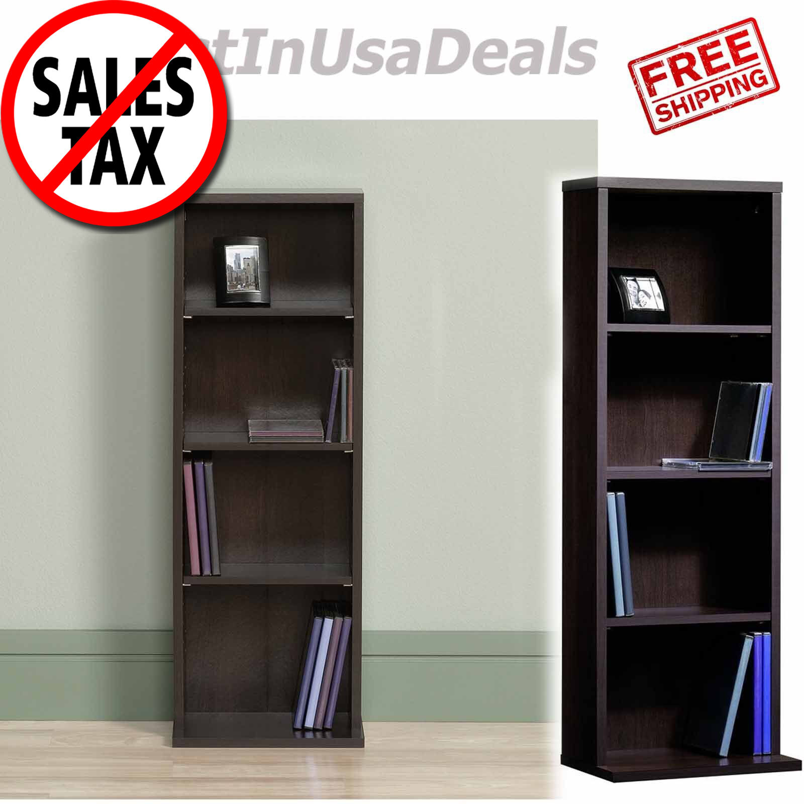 "Sauder 414235 Miscellaneous 5-Shelf Bookcase, L: 35.28"" x W:"