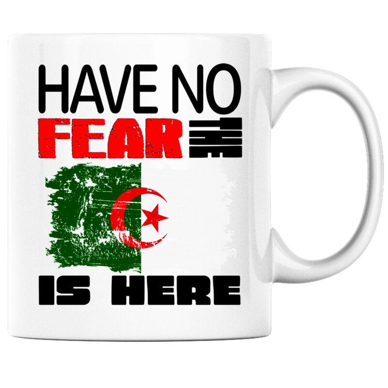 Have No Fear the Algerian is Here Funny Coffee Mug Algeria Heritage Pride