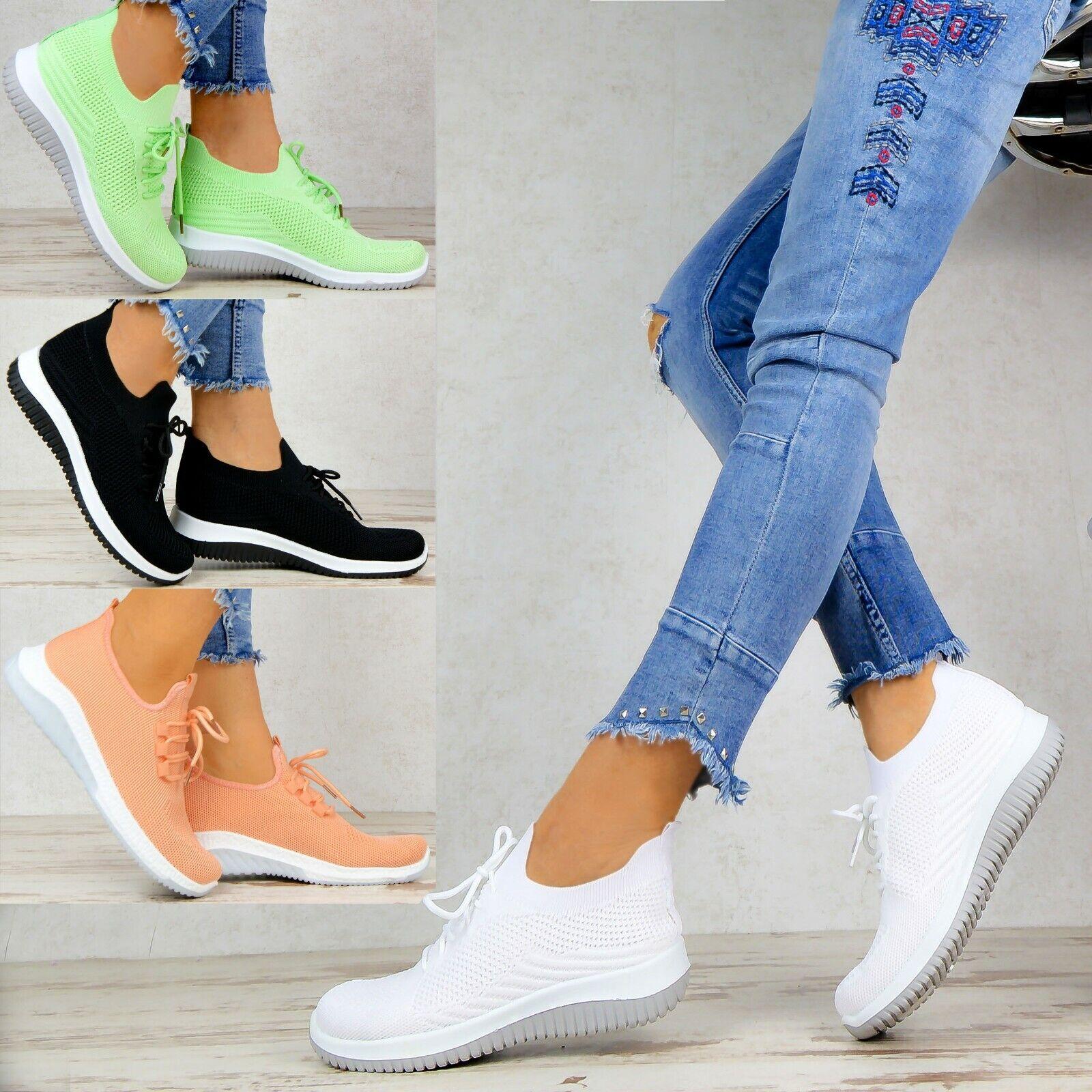 Damen Schuhe Sneaker Weiss Weiß Low Turnschuhe Sportschuhe