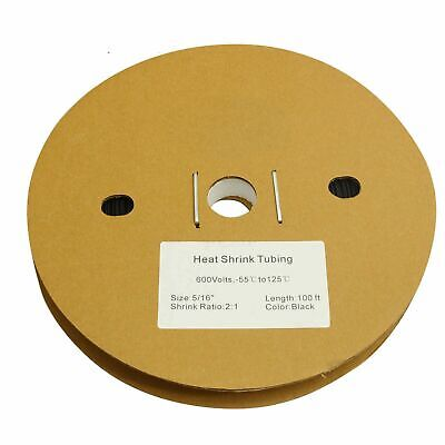 516 100 Ft. 100 Feet 8mm Polyolefin 21 Heat Shrink Tubing Tube Cable