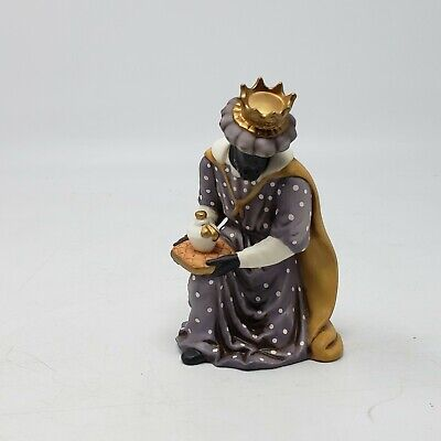 """Heritage Replacement Wise Man Porcelain Nativity Set Hand Painted Collectible 6"""""""
