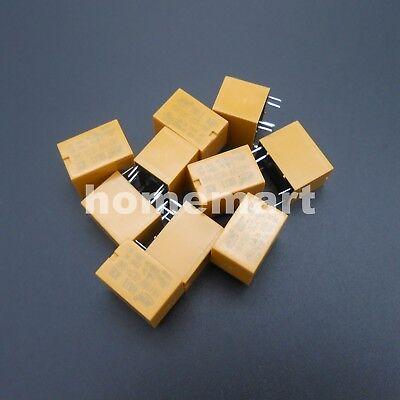 10pcs Hk4100f-dc3v-shg Volt Power Relay Dc 3v 5v 9v 12v 24v 0.2w 3a 6 Pins 6-pin