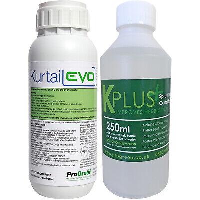 Kurtail Evo © 0.5L Horsetail Weed Killer & KPlus 250 ml Water Conditioner Bundle