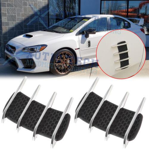 Air Vent Sticker Pair of Car Exterior Hood Side Air Intake Flows Vent Sharks Gills Outlet Decorative Trim Sticker Pupilash Air Flows Vent
