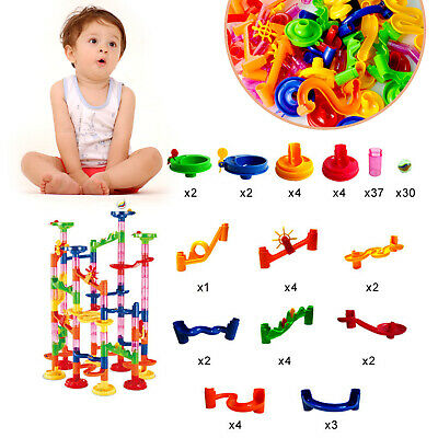 105pcs Kids Marble Run Race Set Railway Building Blocks Construction Track Toys](Marble Building Set)