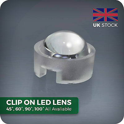 15 30 45 60 90 100 Degree Led Lens For Homemade Aquarium Par Grow Light Beads