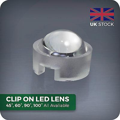 15 30 45 60 90 100 Degree Led Lens For Homemade Aquarium Par Grow Light Beads