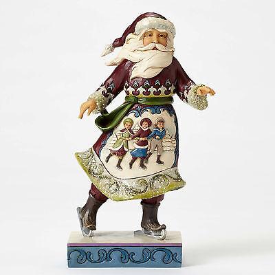 Jim Shore*VICTORIAN SANTA w/ CHILDREN*New 2016*CHRISTMAS*Skating Season*4053681