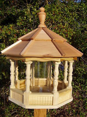 Large Spindle Gazebo Bird Feeder Wood Amish Homemade Handcrafted Handmade