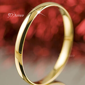 18K-18CT-YELLOW-GOLD-FILLED-SLIP-ON-SOLID-BANGLE-LADY-WOMENS-BRACELET