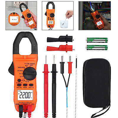Digital Clamp Meter Tester Acdc Amp Multimeter Test Ncv Resistance Temperature