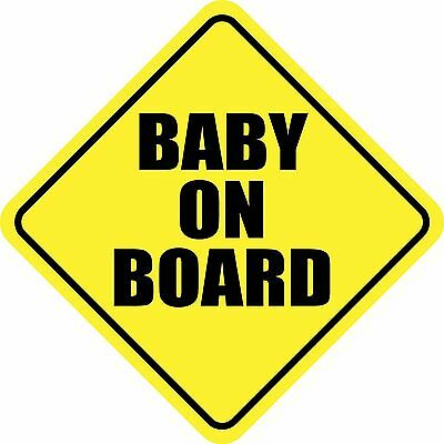 BABY ON BOARD CHILD STICKER DECAL REFLECTIVE STICKER OR MAGNET CAR SIGN MADE USA Board Car Magnet