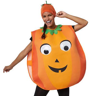Unisex Kostüm Kürbis Pumpkin Riesenaugen Poncho Fasching Karneval - Riesen Kürbis Kostüm
