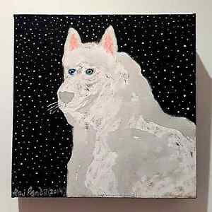Dog painting Eveleigh Inner Sydney Preview