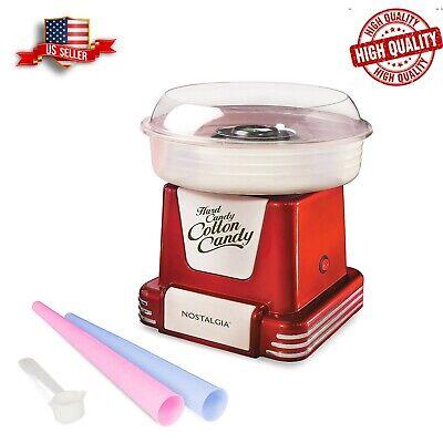 Nostalgia Pcm805retrored Retro Hard Sugar Free Cotton Candy Maker Red