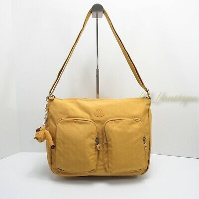 NWT Kipling HB7685 Sidney Crossbody Shoulder Bag Polyamide Sweet Corn Yellow 104