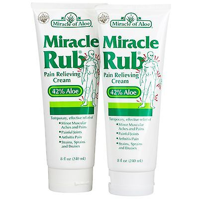 Rub 2 Ounce Cream - Miracle Rub Pain Relieving Cream 8 oz - 2-Pack