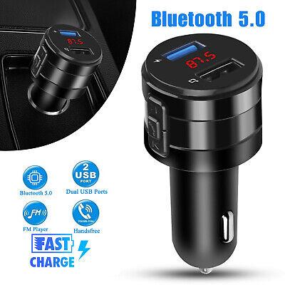 Wireless Bluetooth 5.0 Car FM Transmitter Music AUX Radio 2