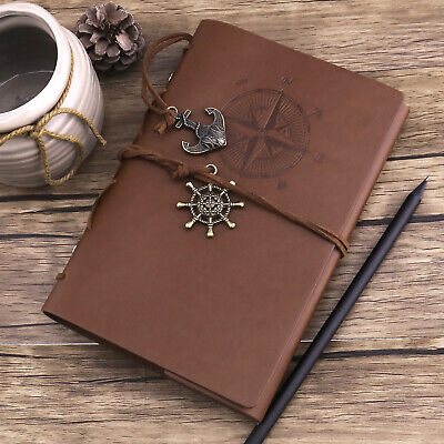 - Writing Journal Pocket Diary Nautical Diary with A6 Blank Pages Retro Pendants