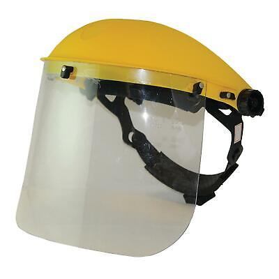 Klar Flip Up Gesichtsschutz Maske Visier PVC Metall Arbeit Schleifen Chemie Neu
