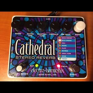 EHX Cathedral Stereo Reverb Pedal