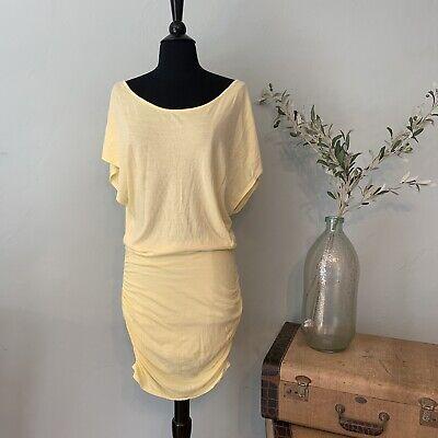 Victoria's Secret Size Sm Cotton Knit Yellow Strip Dress/ Bathing suit Cover Up Yellow Cotton Dress