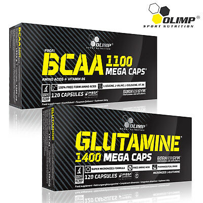 BCAA AMINO ACIDS + GLUTAMINE PILLS 60-180 Capsules Whey Protein Muscle Builder