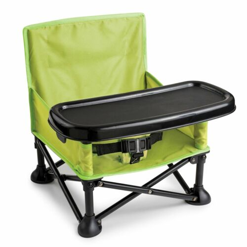 Camping Booster  Portable Infant Seat Toddler Travel Pop And Sit Green