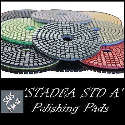 Stadea 5 Diamond Polishing Pad Grit Buff Black For Granite Concrete Wet Grinder