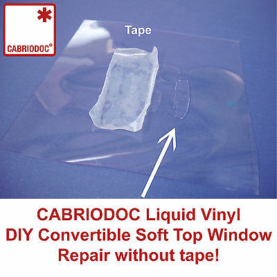 Cabriodoc Convertible Soft Top Rear Plastic Window Repair Kit for all Brands