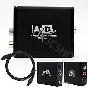 Analog R/L RCA 3.5mm Jack to Digital Optical Fiber SPDIF Coaxial Audio Converter
