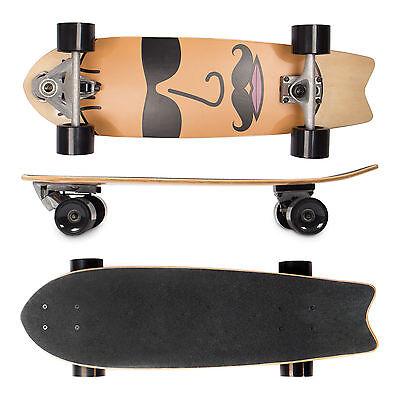 SportPlus EZY! Carver Cruiser Skateboard Longboard Minicruiser Funboard ABEC-7 (Longboard Carver)
