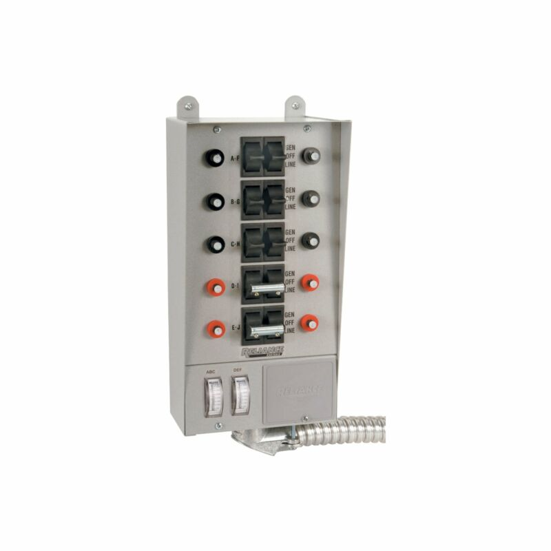 Reliance Loadside Generator Transfer Switch-50 Amp 10 Circuit #51410C