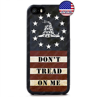 Gadsden Don't Tread on Me USA Flag 2nd Case Cover iPhone Xs Max XR X 8 7 6
