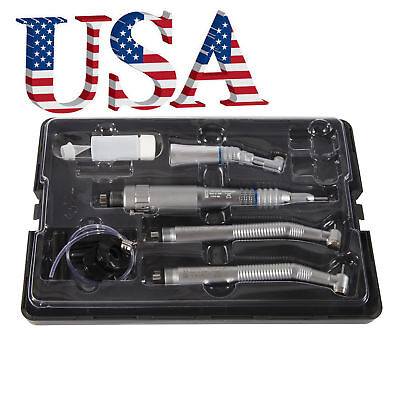 Dental High Slow Speed Latch Contra Angle Straight Air Motor Handpiece 4-h Kit