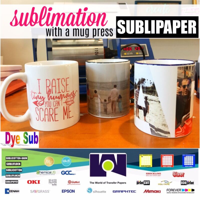 """SUBLIPAPER Dye Sublimation Transfer Paper 100 Sh 8.5""""x14"""" Ideal Size for MUGS"""