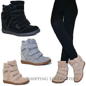 Scarpe donna sneakers sportive scamosciate ginnastica for Interno 1 scarpe