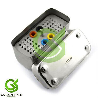 Stainless Steel Endodontic Box Dental Files Burs Holder 48 Holes Stand Aluminium